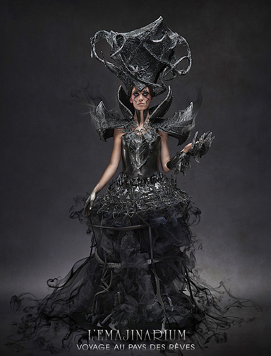 Dark Queen EMAJINARIUM character by Free Spirit created by the photographer Mathieu Paul Gabriel
