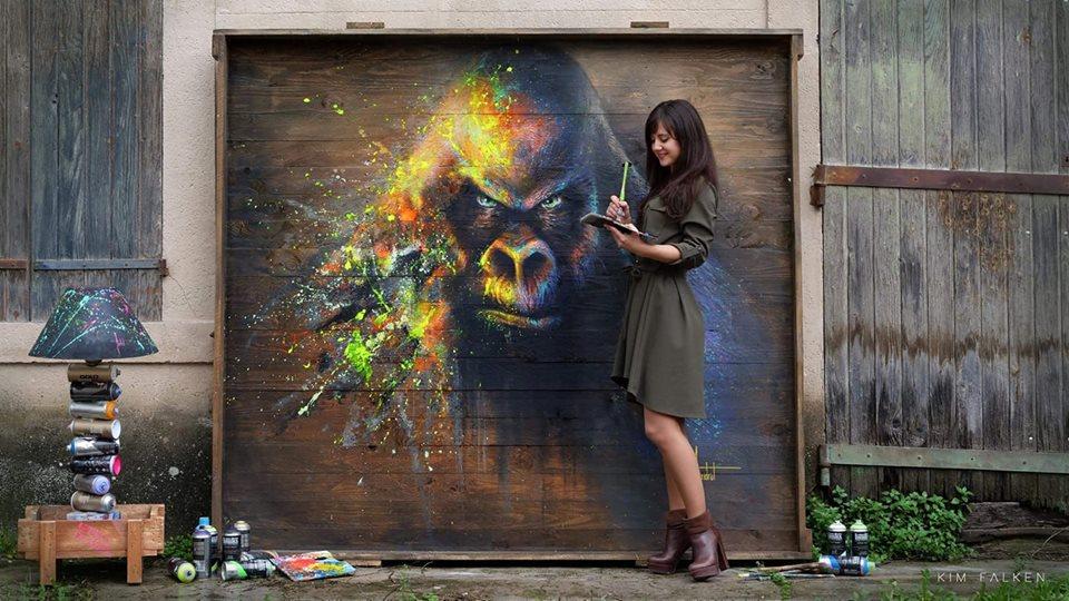 Sandrot Free Spirit project Inaudible Voices peinture espèces menacées Gorille