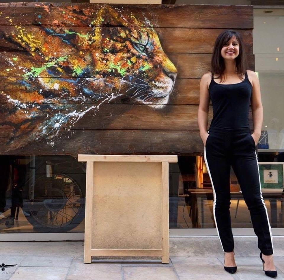 Sandrot Free Spirit project Inaudible Voices peinture espèces menacées Léopard