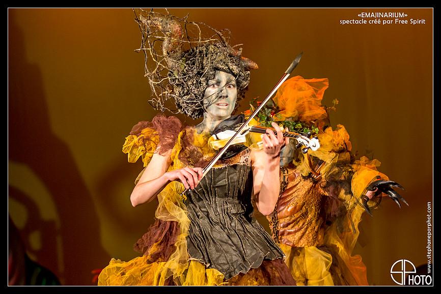 EMAJINARIUM Violoniste spectacle paris