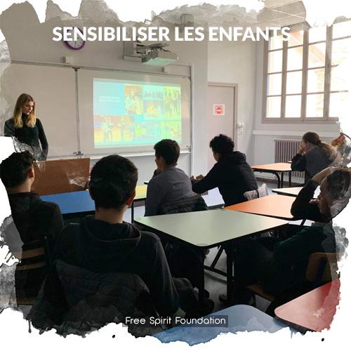Sensibiliser les jeunes dans les écoles et les collèges sur la protection de l'environnement et de la biodiversité