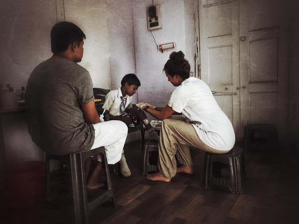 Free Spirit foundation in a dispensary in India to support vulnerable people