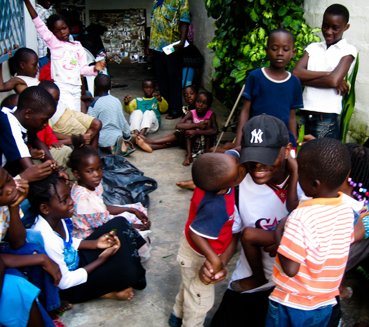 Free Spirit foundation with children orphaned by AIDS in Congo - orphanage - humanism is about spreading humanity and creating connexions between all human beings as we need to support each other